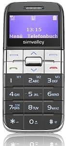 Simvalley Easy-5 Senioren-Handy Schwarz-Silber