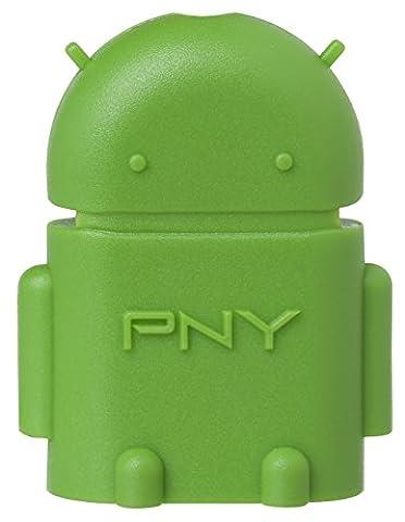 PNY OTG Robot adaptateur USB et Micro-USB pour téléphone et tablette Android, Samsung, Nexus, HTC, et autres appareils USB OTG