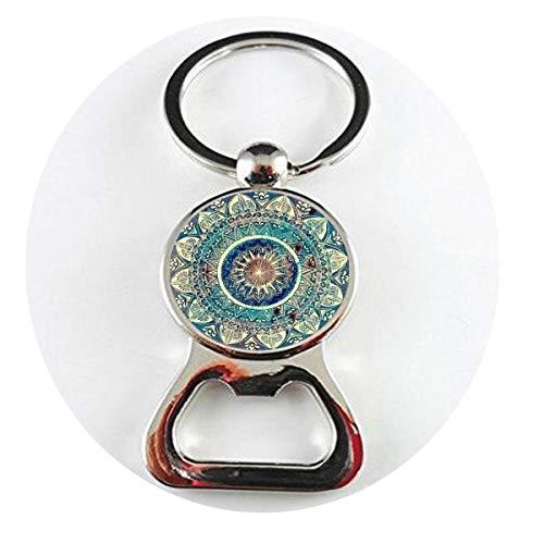 asd Vintage Glaskuppel Halskette Buddhismus Chakra Glas Cabochon Anhänger Schmuck Om India Yoga Mandala Flaschenöffner Schmuck