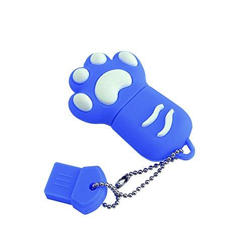 16g Linda Speicherstick USB 2.0in Form von Katze Kralle, USB Flash Drive blau