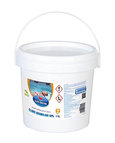 Bestway 704458 Swim Doctor Granules de chlore pour piscines, kg 5