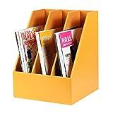 FUBULECY File di Office Desktop in Pelle 3 di Blocco File/File Casella di Informazioni di Ricezione (Color : Orange)
