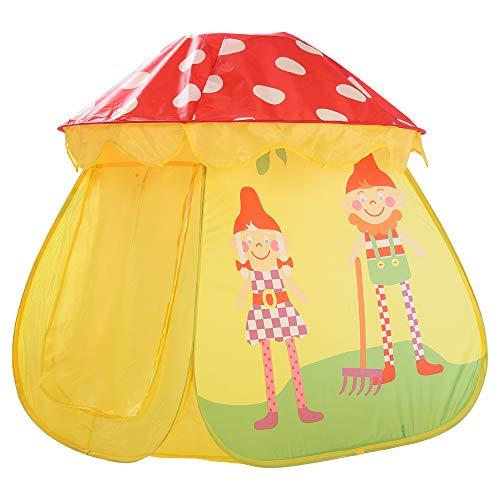 Kinderzelte Selbstöffnung Kinder Fun Gelb Pilz Spiel Haus Cartoon Baby Castle Zelt
