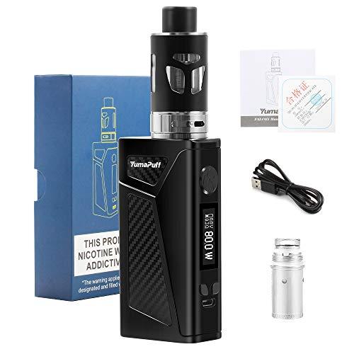 Cigarettes électroniques kit complet, Box Cigarette Electronique Réglable YumaPuff Falcon 100w E Cig batterie 2000mAh, 0.5ohm resistance 2.0ml atomiseur (black)