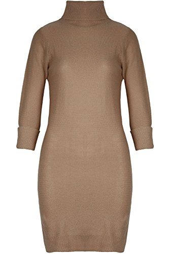 Fashion Star Damen Kleid *, rosa (Trim Roll Pullover)