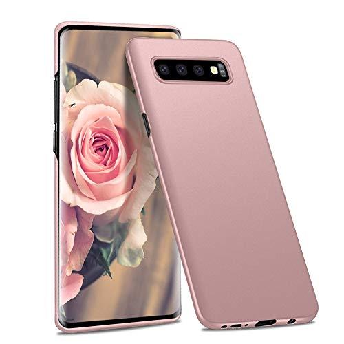Meidom Ultra Dünn Hülle Kompatibel mit Samsung Galaxy S10 Hülle [Anti-Kratzen] Schutzhülle Handyhülle [Anti-Fingerabdruck] PC Bumper Case für Samsung Galaxy S10 (6,1 Zoll) - Matt Rosegold