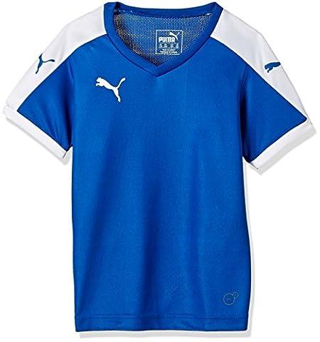 Puma Unisex-Kinder T-Shirt Pitch, Puma Royal-White, Gr. 7-8 Jahre (Herstellergröße: 128)