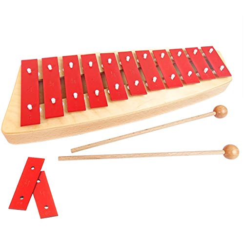 Sonor NG10 NG-10 Xylophon Kinder Glockenspiel + keepdrum Tasche Pink