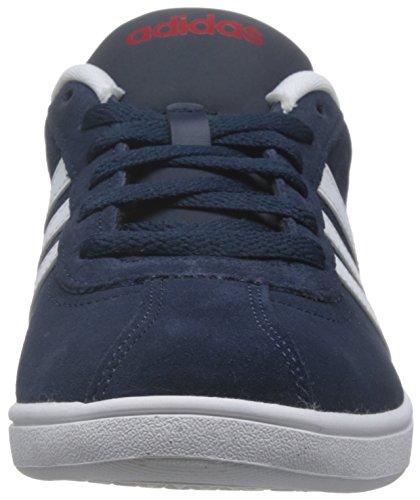 adidas Herren Vlcourt Sneaker Blau (Collegiate Navy/Footwear White/Power Red)