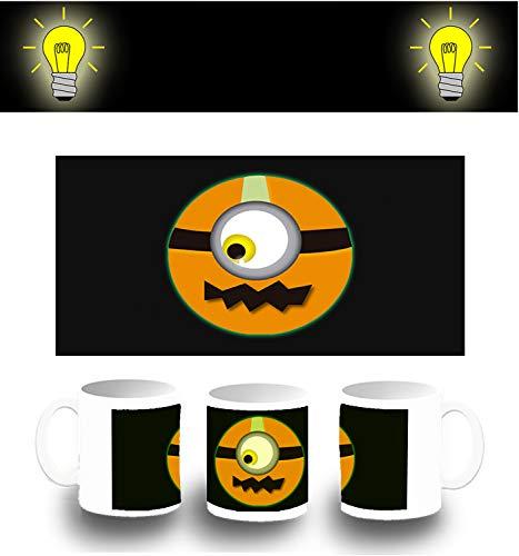 MERCHANDMANIA PHOTOLUMINESZENT Becher Pumpkin Emoticon Halloween Funny