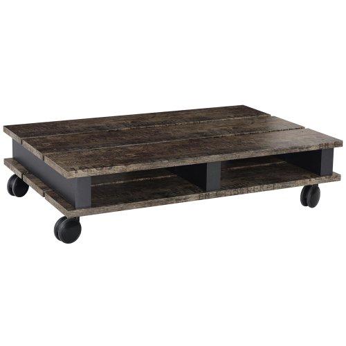 Rauch Möbel Sumatra Couch Tisch mit Lack, 100x 24x 67cm, Schwarz