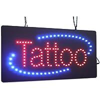 """Tattoo """", Super Bright LED di alta qualità, con scritta"""" Store-Targa, cartello da visita, finestre """""""