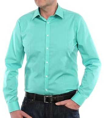 Venti Herren Businesshemd Slim Fit 001470/306, Gr. 38, Grün (306 grün)
