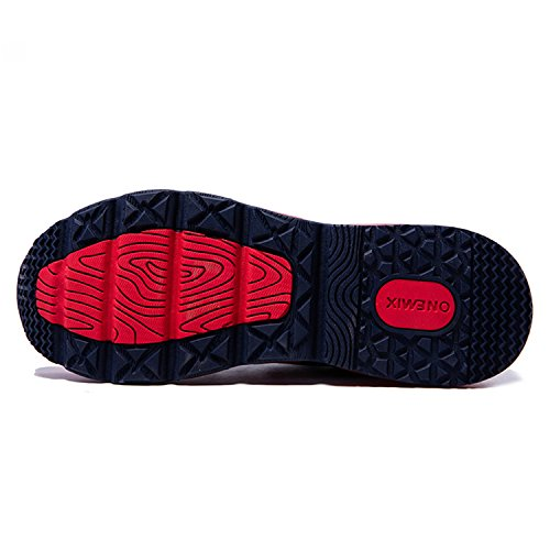 Onemix Chaussures de Sport Homme Tricoter Coussin d'Air Dark blue / Red