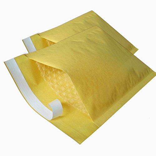 takestop Set 12Stück Umschlag gelb Briefpapier gepolstert mit Film A Blasen 14x 16cm Post Luftpolsterfolie Verschluss 4cm Vinyl strapazierfähig