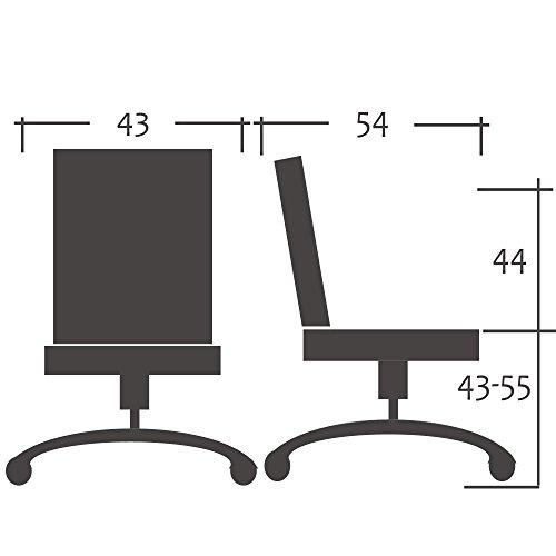 SixBros. Bürostuhl Drehstuhl Schreibtischstuhl Schwarz – H-298F/2064 - 5