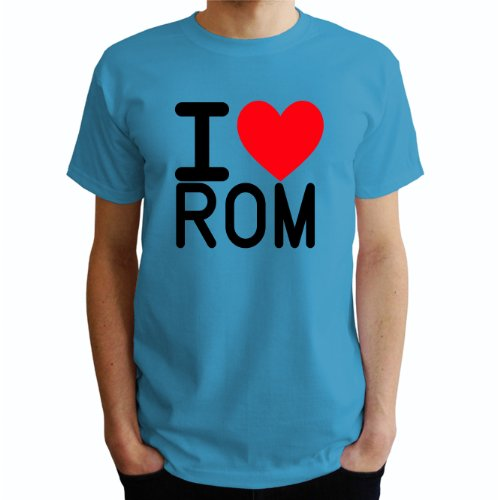 I love Rom Herren T-Shirt Blau