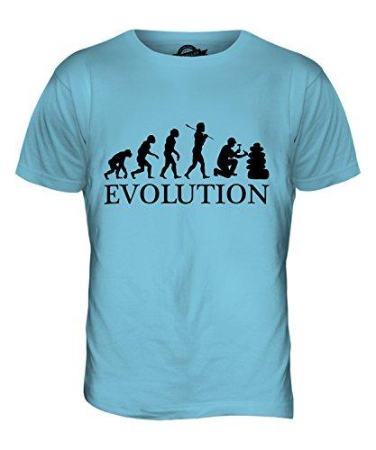 CandyMix Geologie Evolution Des Menschen Herren T Shirt Himmelblau