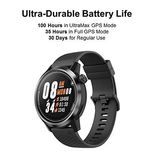 COROS APEX Premium Reloj GPS multideporte, batería de larga duración, titanio, cristal de zafiro, hR, baróm