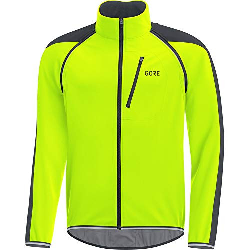 GORE Wear C3 Herren Zip-Off Jacke GORE WINDSTOPPER, XL, Neon-Gelb/Schwarz