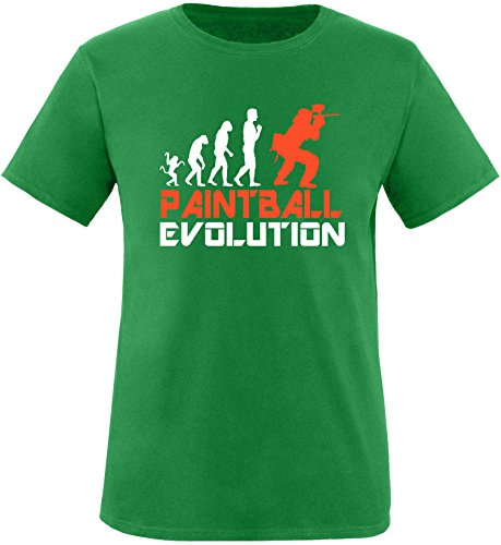 EZYshirt® Paintball Evolution Herren Rundhals T-Shirt Grün/Weiss/Orange