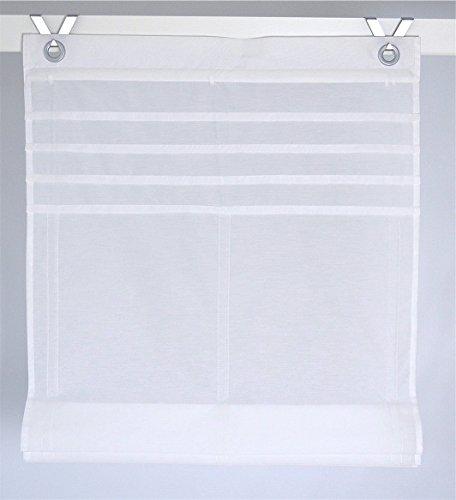 Tenda a pacchetto kessy biese bianco con occhielli 45 * 140 cm