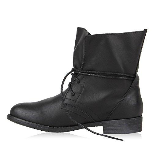 Scarpette Da Donna Boot Paradise Scarpette Desert Boots Scarpette Da Camuffamento Stivaletti In Similpelle Tacco Basso Booties Modello Flandell Nero Nero