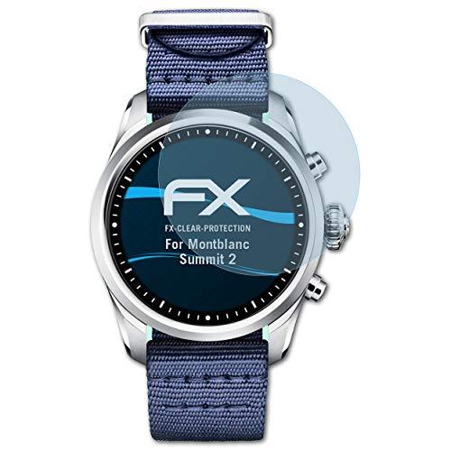 atFoliX Schutzfolie kompatibel mit Montblanc Summit 2 Folie, ultraklare FX Bildschirmschutzfolie (3X)