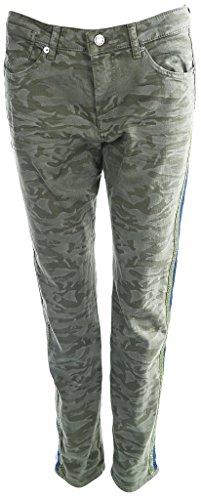 MAC Damen Jeans Girlfriend Grün