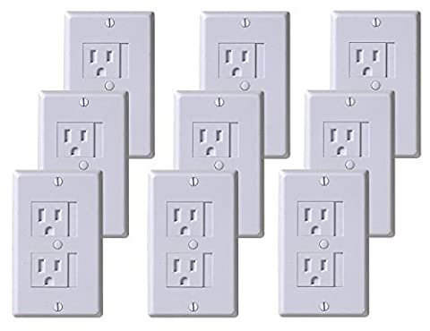 KidCo Universal Outlet Cover, White, 9 Pack by KidCo