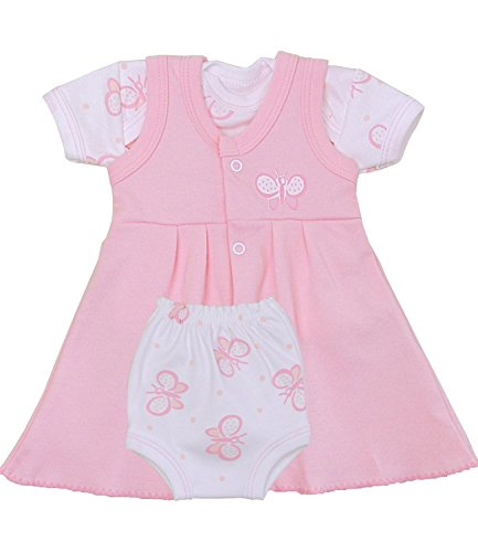 Babyprem 1 Premature Early Baby Clothes Pink Butterfly Dress, T Shirt & Pants Set 1.5-7.5lb Choice of 5 designs.BUTTERFLY PREM 2