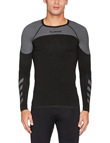 Hummel Herren First Comfort LS Jersey T-Shirt, Black, XL/XXL