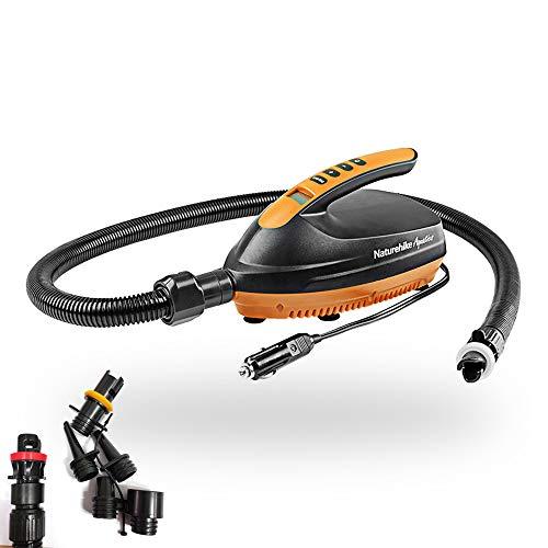 FOONEE 16 PSI Elektrische Auto Luftpumpe, Digitale Druckeinstellung mit 6 Stück SUP Aufblasbarer Ventiladapter Adapter Set für aufblasbares Boot, Sup und Paddle Board, Sturmboot, Gummiboot, Luftbett