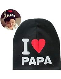 Berretto con cappuccio in cotone con motivo a lettera Cappello in cotone per  bambini piccoli ( 0314e8b023db