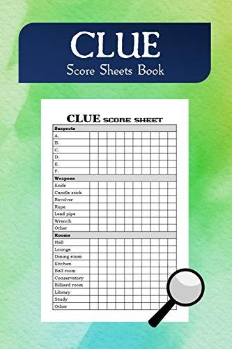 Clue Score Sheets Book: Pocket Size
