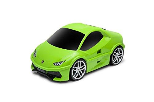 PACKENGER Lamborghini Huracan Kinderauto Koffer Trolley (Grün)