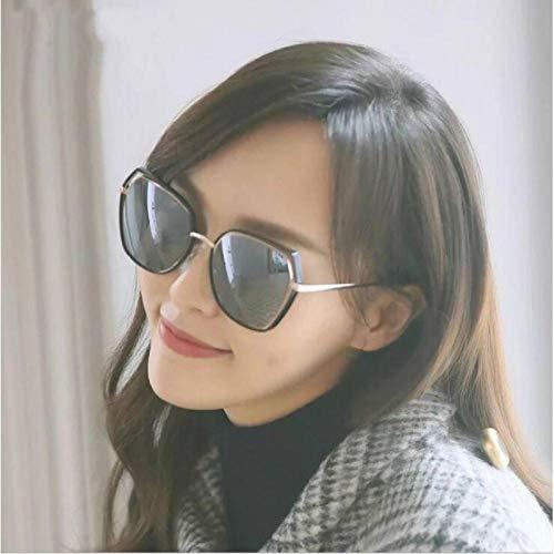 Sonnenbrille weibliche Flut Myopie Sonnenbrille Koreanische Version der multilateralen Persönlichkeit Brille Street Beat Flut fertig Black Box grau Film Spiegel Tasche Spiegeltuch, benutzerdefinierte
