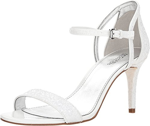 Michael Michael Kors Womens Simone Glitter Heel Dress Sandals