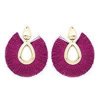 Tassel Earrings Bohemian Big Sector Shape Earrings for Women Jewelry Hyperbole Female Drop Brincos