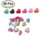 NUOLUX 36 Stück Reißzwecken Push Pins Herz für Schule DIY Büro