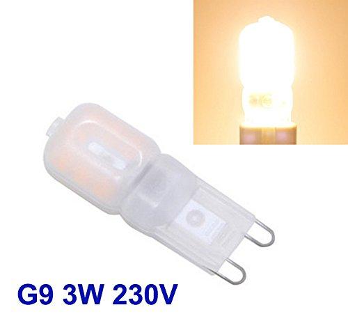 Preisvergleich Produktbild 10 Stk. G9 LED 3W Dimmbar Stiftsockel Leuchtmittel Birne Halogen Warmweiß 230V 14 SMD