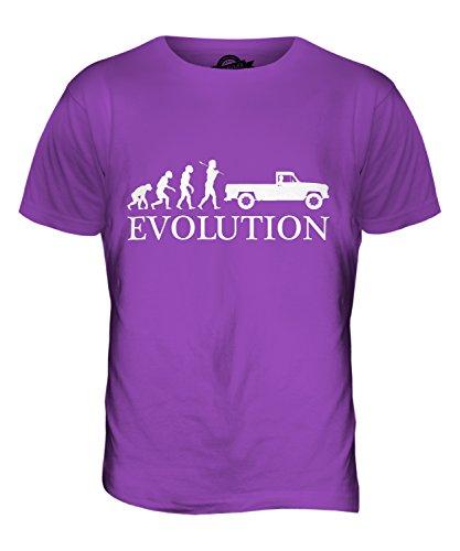 CandyMix Pick Up Evolution Des Menschen Herren T Shirt Violett