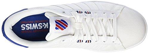 K-Swiss Hoke T Cmf, Sneakers Basses Homme Blanc (White/limoges/chili Pepper)