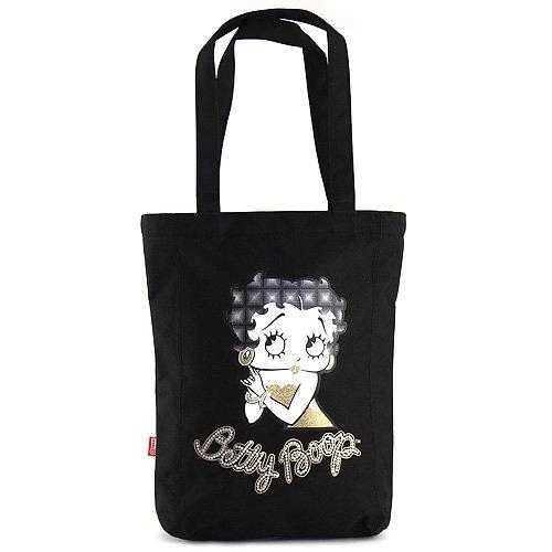 Target Shopping Bag Betty Boop Strandtasche, 35 cm, Schwarz (Nero)