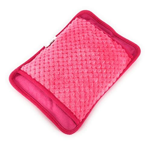 MovilCom® Bolsa de Agua Caliente Eléctrica | Recargable en sólo 15 minutos | Dolor muscular, espalda menstrual (Rosa) 600Watt