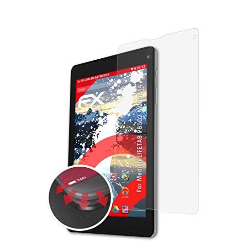 atFolix Schutzfolie passend für Medion LIFETAB P8502 MD99814 Folie, entspiegelnde & Flexible FX Bildschirmschutzfolie (2X)