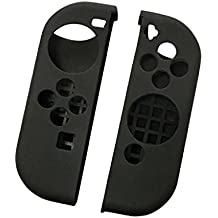 Street27 Anti-Scratch Left and Right Gel Silicone Case Covers for Nintendo Switch Gamepad Controller Black