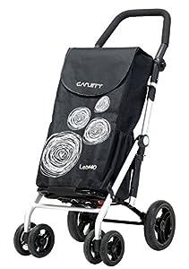 Carlett Lett440 Deluxe Folding 6 Wheel Swivel Shopping Trolley with Park Brake