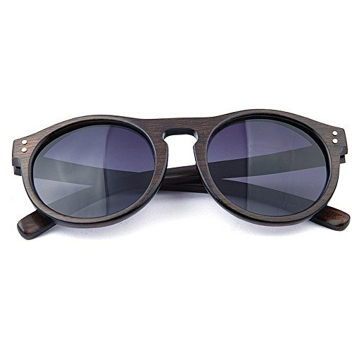 Ppy778 Holz polarisierte Sonnenbrille für männer und Frauen uv blockieren Vintage ovale Sonnenbrille Brillen Mode cat Eye Sonnenbrille (Color : Brown)