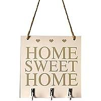 Desconocido WFZ17 Sweet Home - Organizador de pared cuadrado de madera para colgar